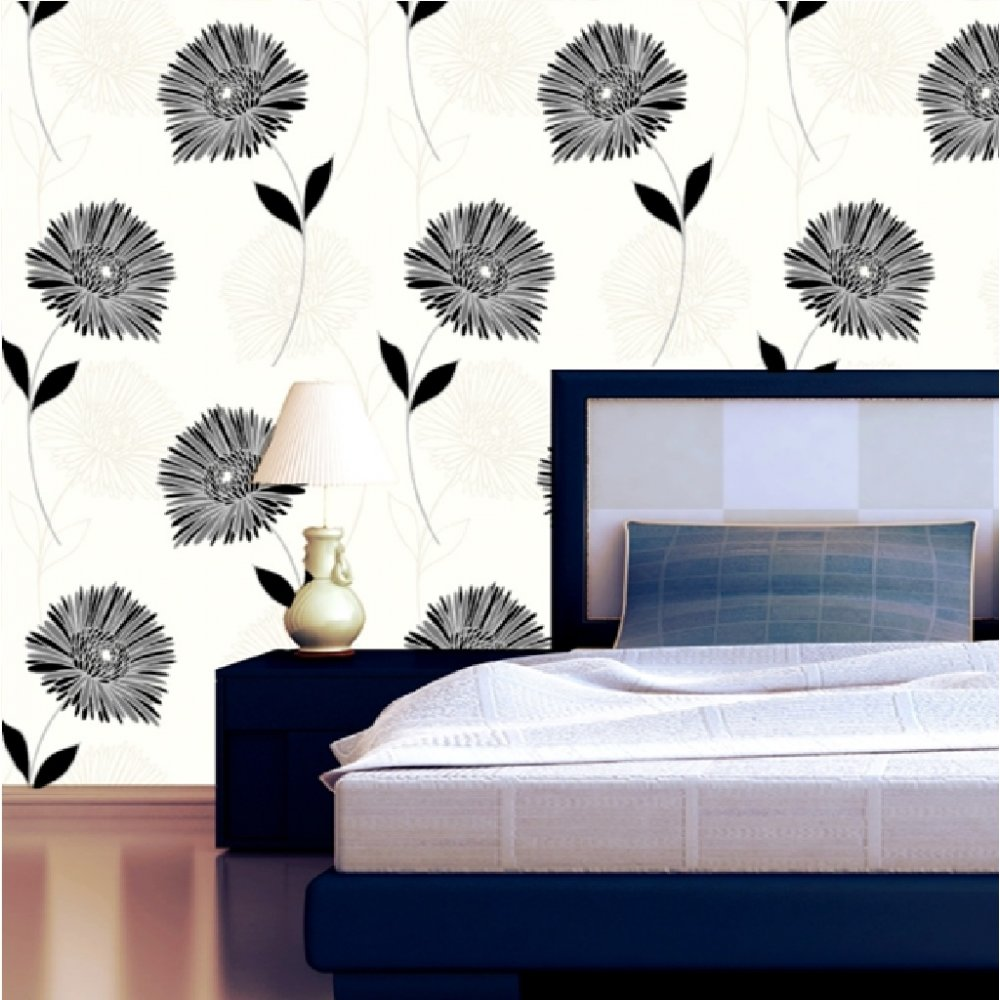 Wallpaper Direct: Direct Wallpapers Felicity Floral Metallic Flower