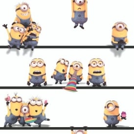 Despicable Me Minions Motif Pattern Kids Childrens Wallpaper WP4-DES-MIN-20
