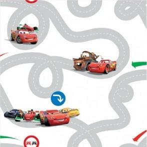 Disney Cars Racetrack Wallpaper DF72599