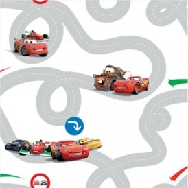 Disney Cars Racetrack Wallpaper DF72599