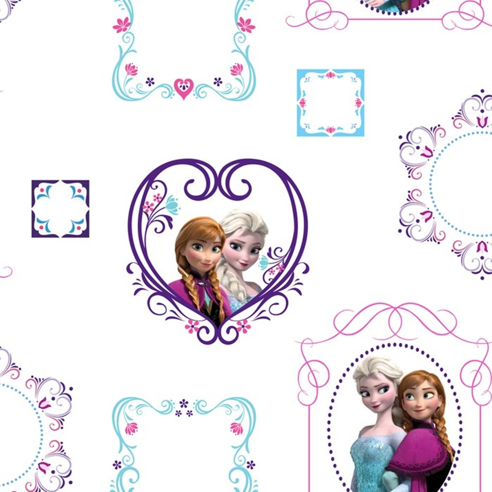 Disney Frozen Anna Elsa Picture Frame Pattern Childrens Wallpaper 70 ...