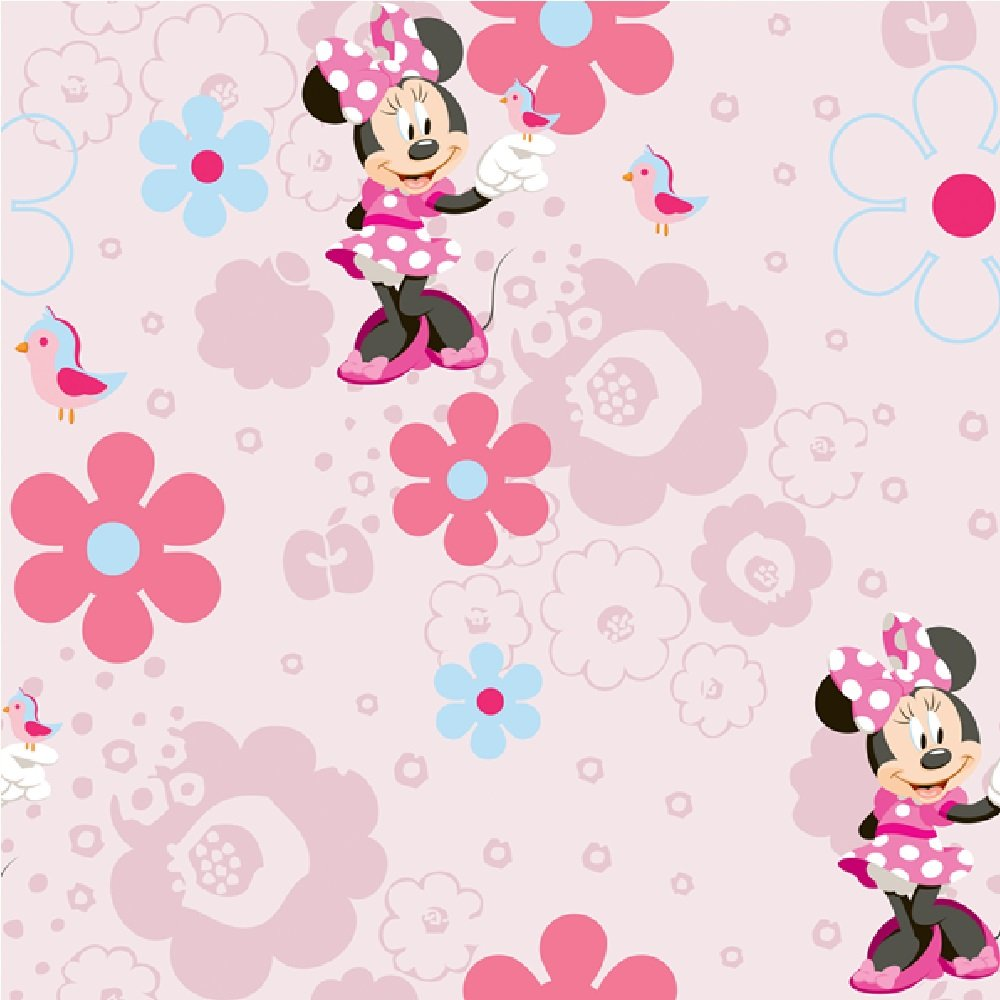 ... Wallpaper › Disney › Disney Minnie Mouse Spring Walk Wallpaper