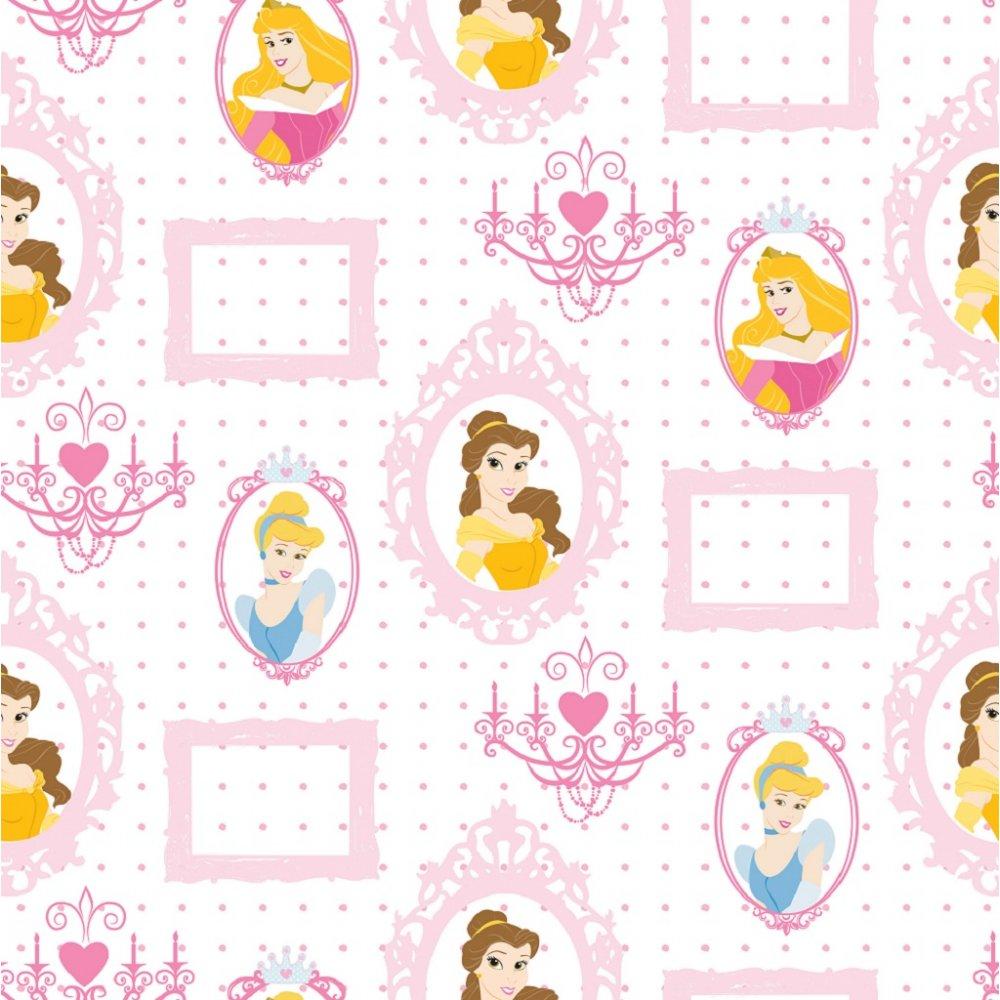 Disney Princess Royal Frames Motif Pink Childrens Kids