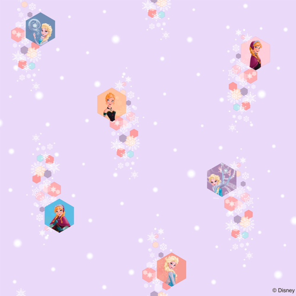 Disney Frozen Official Elsa Anna Snowflake Pattern Childrens Movie Wallpaper FR3003 3