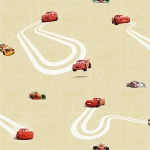 Galerie Official Disney Cars Lightning McQueen Childrens Wallpaper CR3005-2