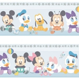 Official Disney Baby Mickey Minnie Mouse Childrens Nursery Wallpaper Border MK3500-1