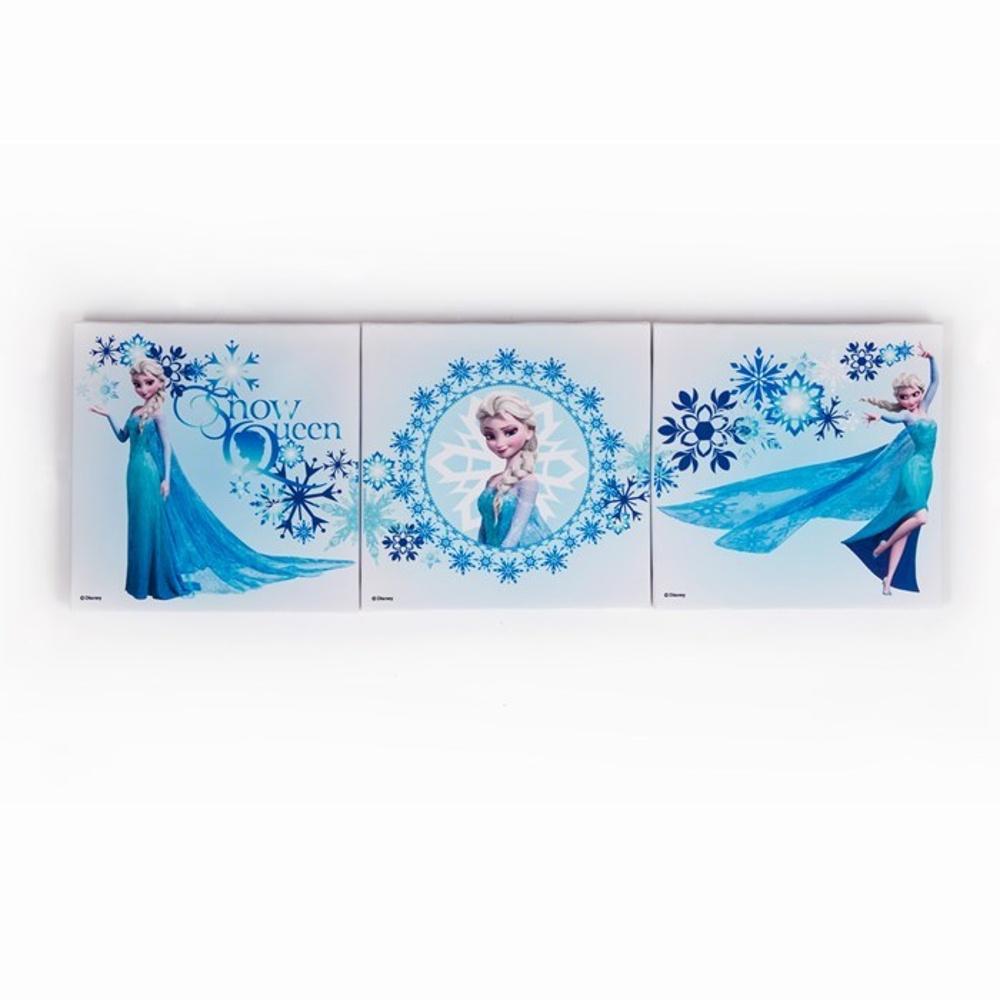 Frozen Wall Art official disney frozen set of 3 elsa snow queen canvas wall art 70-550