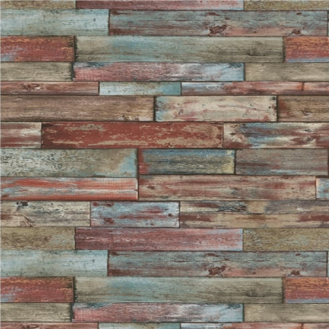 Authentic Wallpaper: Erismann Authentic Wood Panel Wallpaper 7319-06