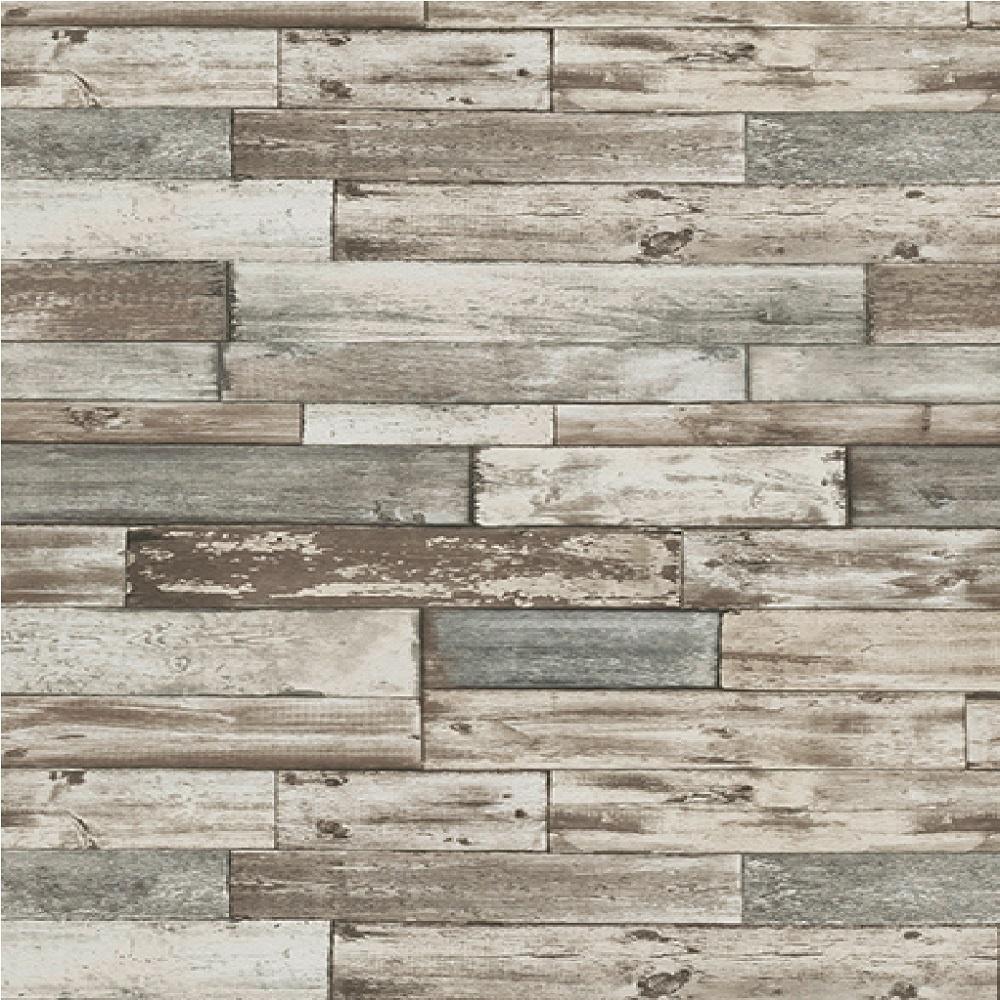 Authentic Wallpaper: Erismann Authentic Wood Panel Wallpaper 7319-10