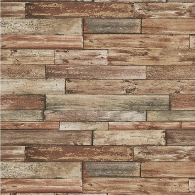 Authentic Wallpaper: Erismann Authentic Wood Panel Painted Effect Textured