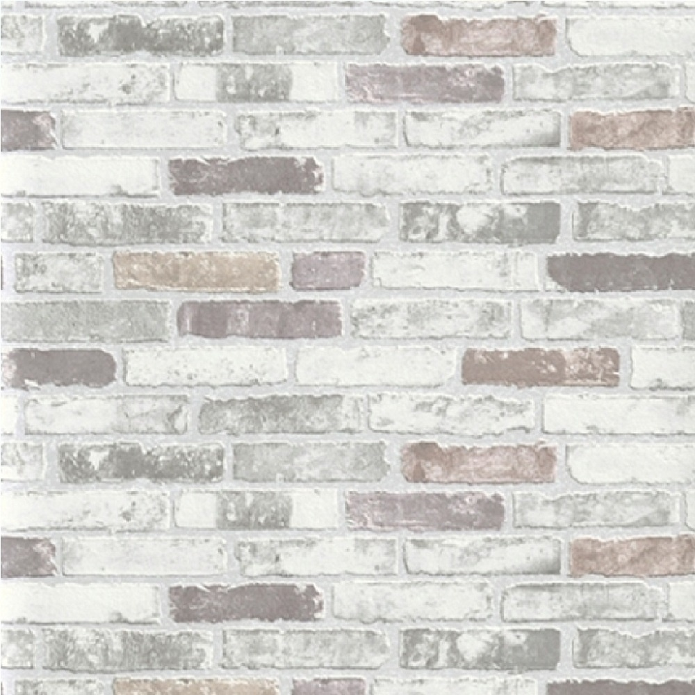 Erismann brix brick effect wallpaper 6703 10 grey i for Wall to wall wallpaper