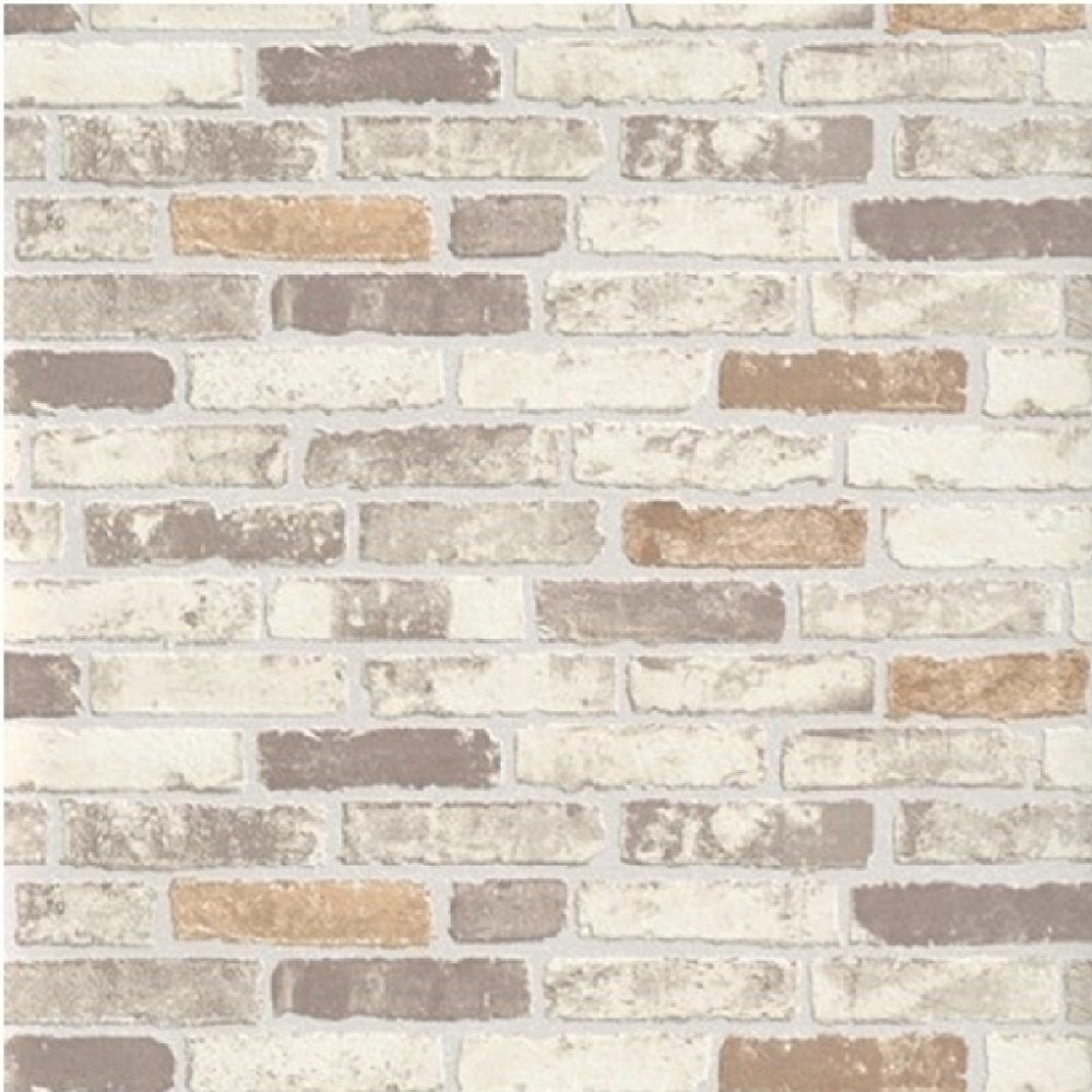 White Brick Wallpaper Kitchen: Erismann Brix Brick Effect Wallpaper 6703-11 - Beige