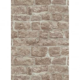 Erismann Brix Brick Pattern Wallpaper Faux Stone Effect Realistic Textured 5818-11