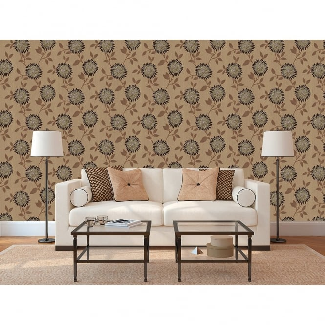 Erismann Chloe Floral Leaf Motif Textured Blown Vinyl Wallpaper 9696-11
