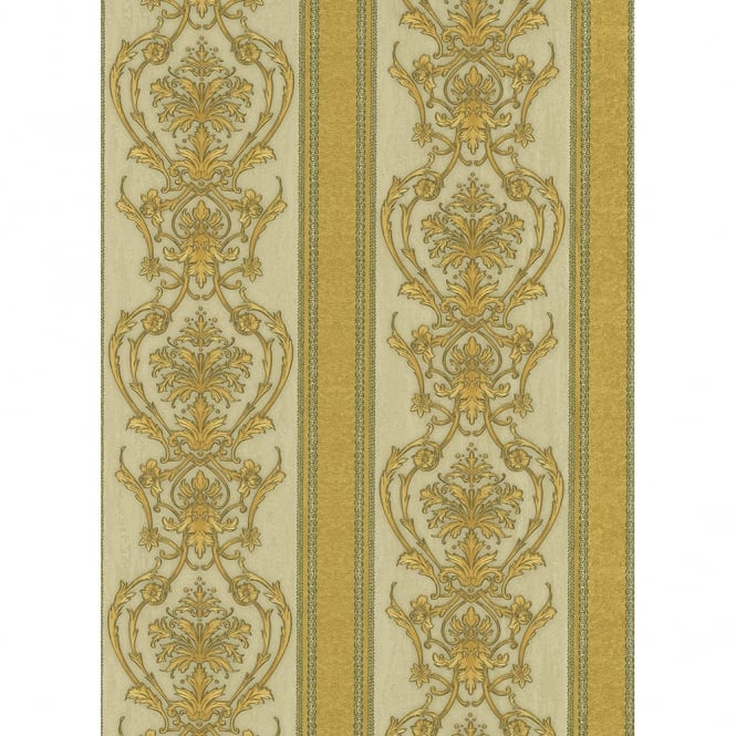 Erismann Classic Moments Striped Damask Motif Classic Textured Vinyl Wallpaper 5782-30