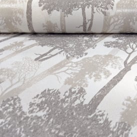 Erismann Countryside Forest Pattern Wallpaper Trees Wood Motif Textured Glitter 5965-11