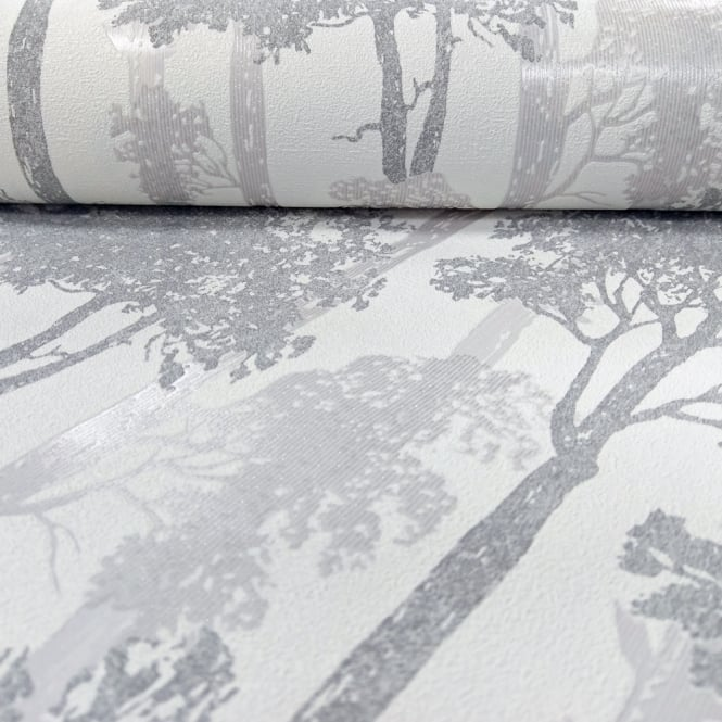 Erismann Countryside Forest Pattern Wallpaper Trees Wood Motif Textured Glitter 5965-15