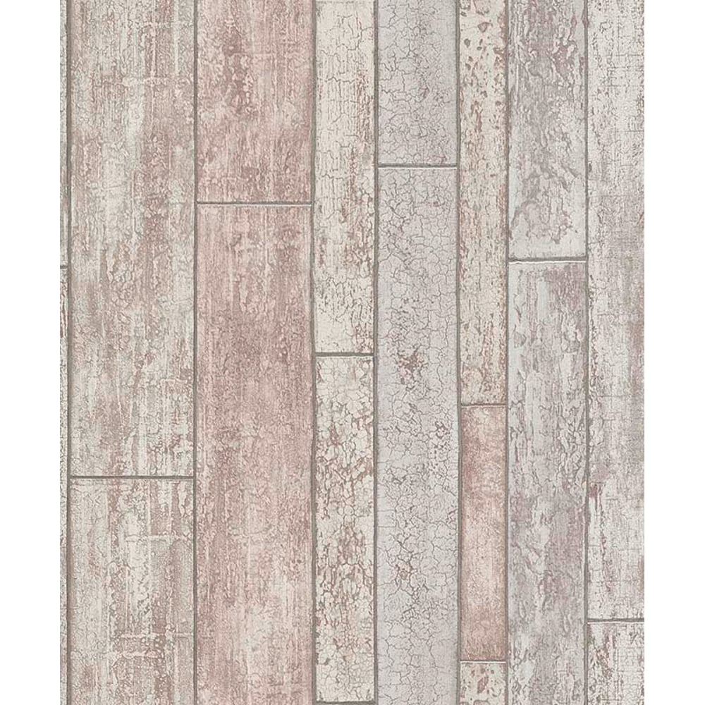 Erismann Distressed Wooden Beam Pattern Wallpaper Faux Wood Effect 6943 06