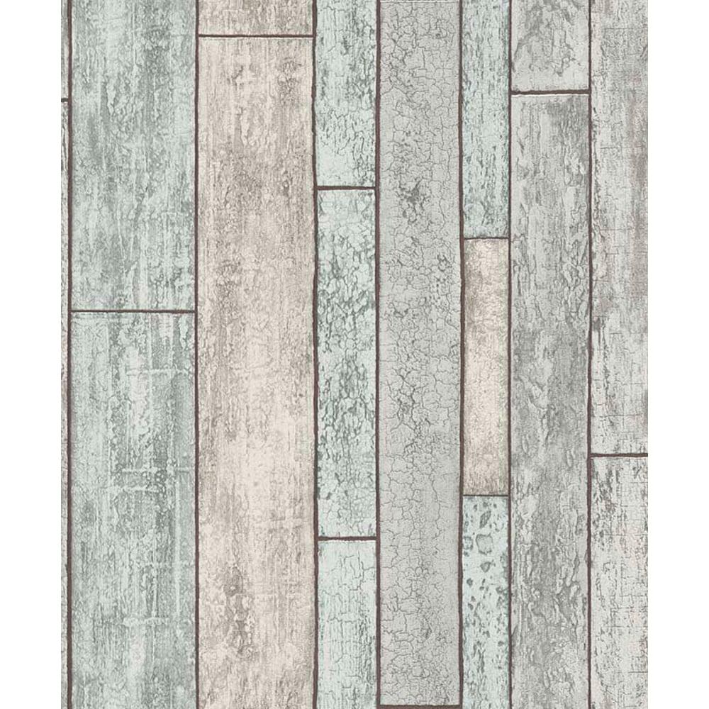 Distressed Wooden Beam Pattern Wallpaper Faux Wood Effect 6943 10