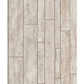 Erismann Distressed Wooden Beam Pattern Wallpaper Faux Wood Effect 6943-11