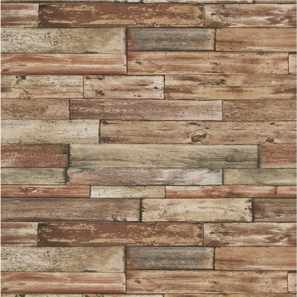 Erismann authentic wood panel painted effect textured for Wood wallpaper for walls