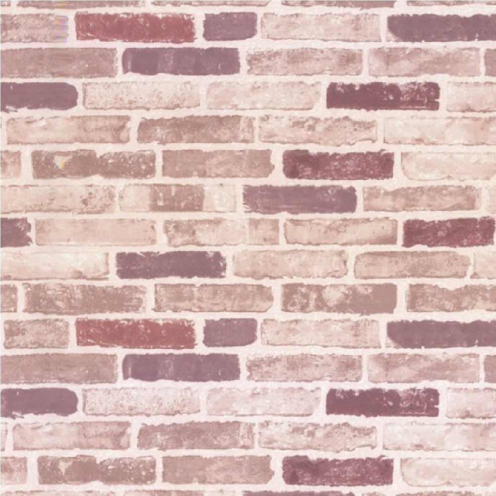 Erismann brix brick wall effect embossed textured for Purple brick wallpaper