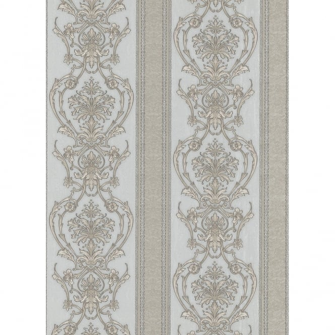 Erismann Classic Moments Striped Damask Motif Classic Textured Vinyl Wallpaper 5782-29