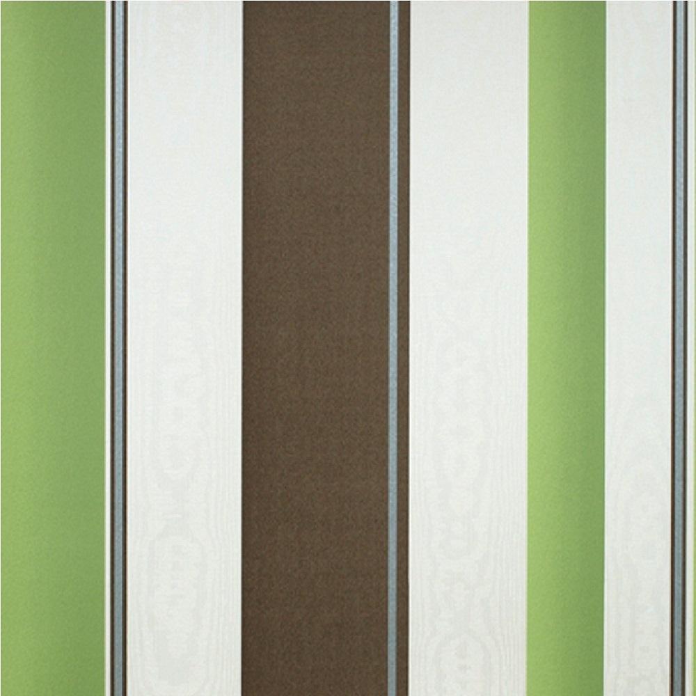 Erismann poppy stripe metallic silver textured vinyl for Striped kitchen wallpaper