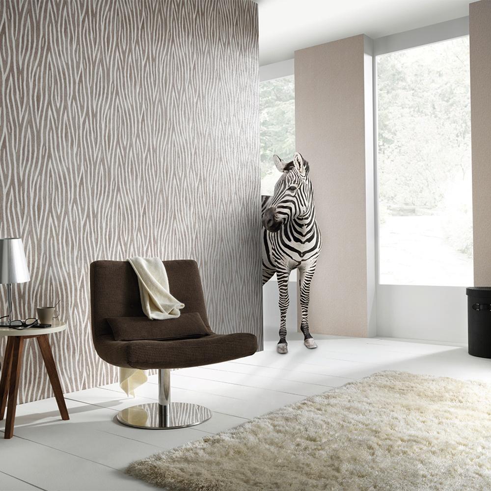 Erismann Sambesi Zebra Stripe Animal Print Textured