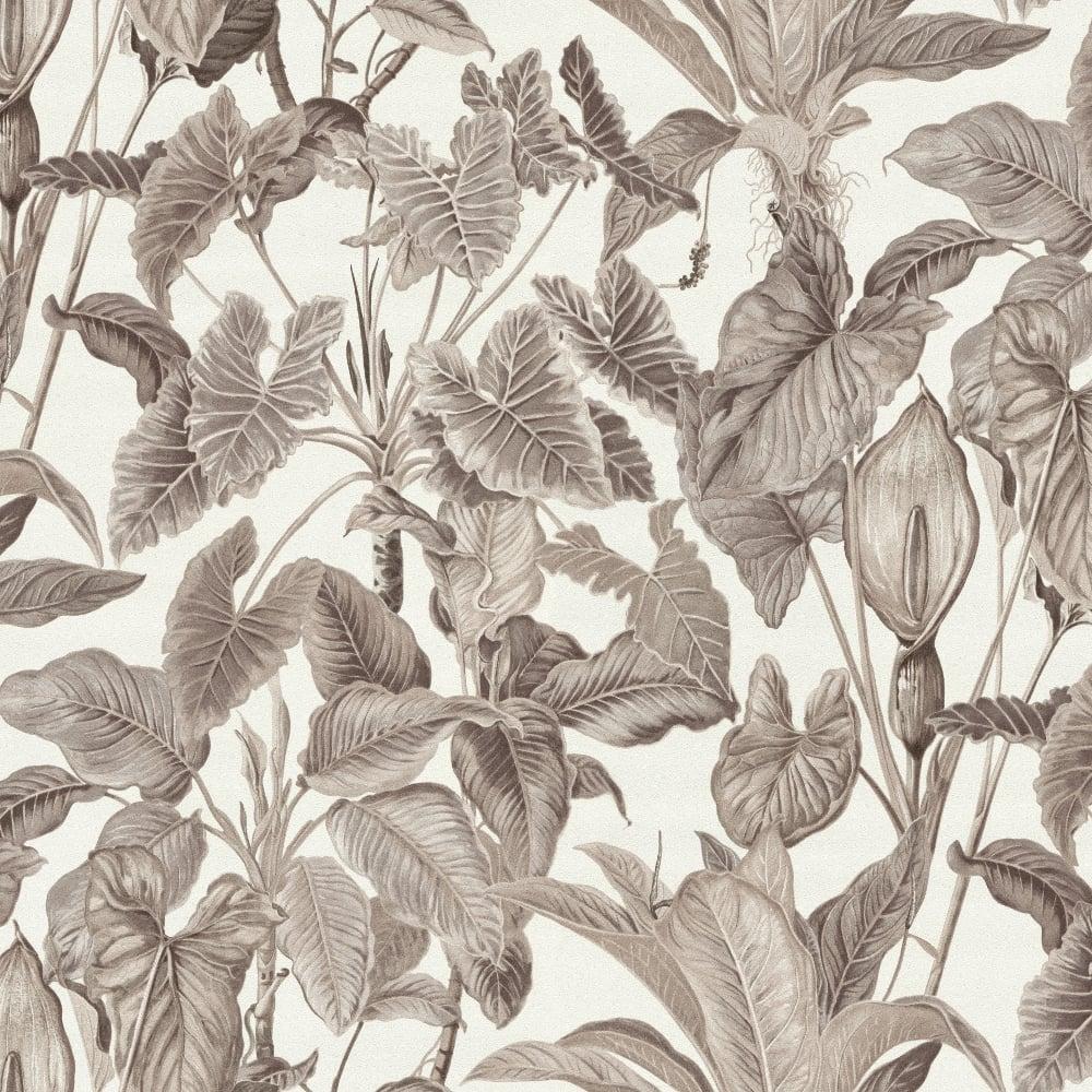 Paradisio Tropical Leaves Jungle Wallpaper White Green 6303-07 Erismann