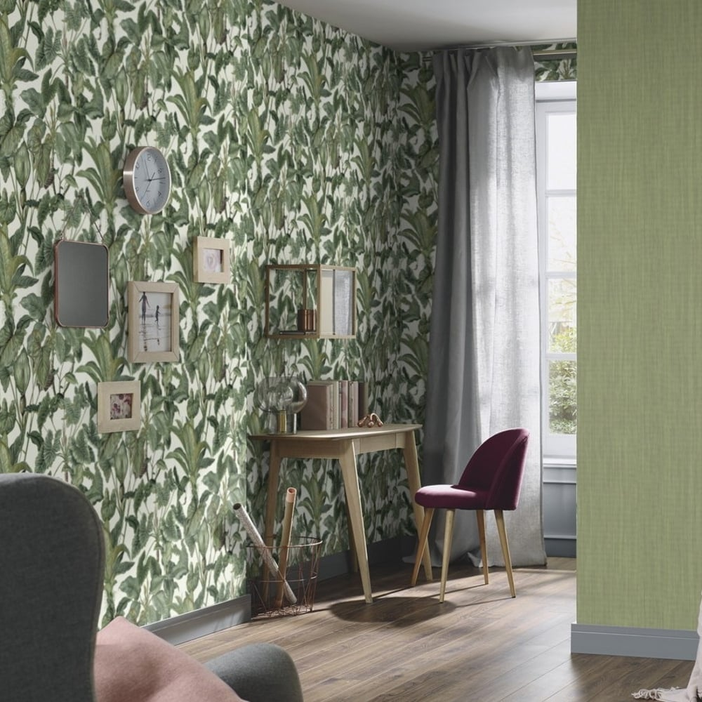 Erismann Paradiso Tropical Leaves Pattern Wallpaper Jungle Leaf Forest Textured 6303 07