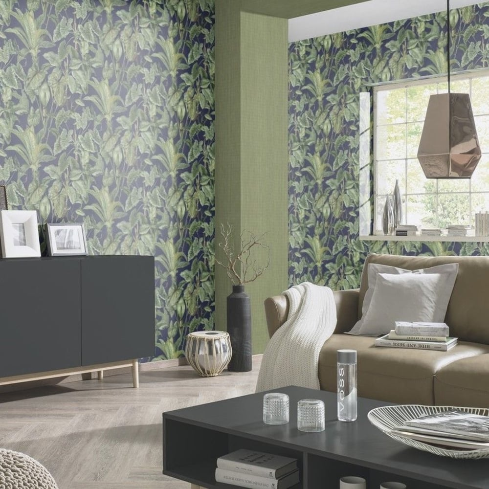 Paradiso Tropical Leaves Pattern Wallpaper Jungle Leaf Forest Textured 6303 08