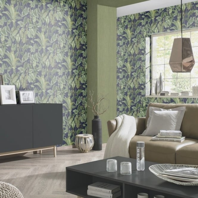 Erismann Paradiso Tropical Leaves Pattern Wallpaper Jungle Leaf Forest Textured 6303-08