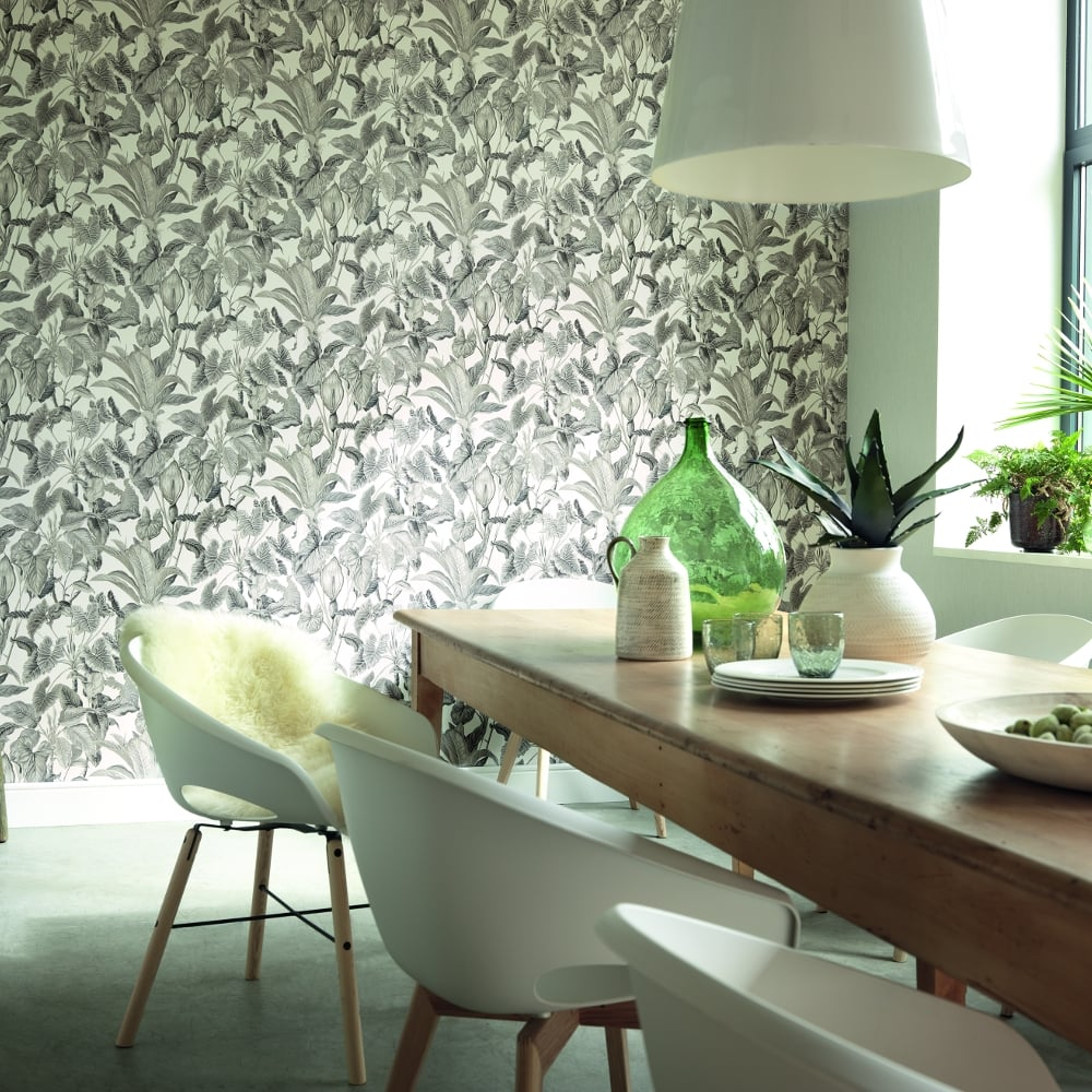 Paradiso Tropical Leaves Pattern Wallpaper Jungle Leaf Forest Textured 6303 10