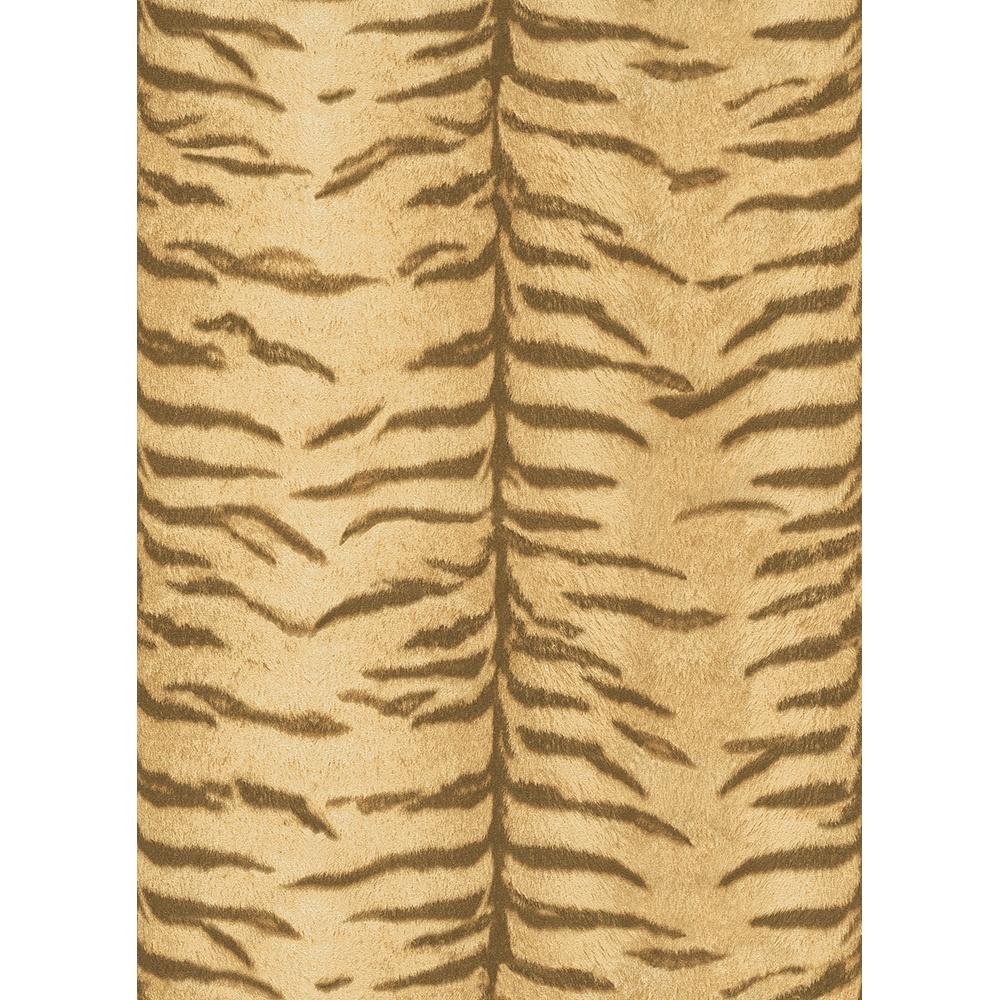 Yellow stripe shower curtain - Erismann Sambesi Tiger Stripe Fur Safari Animal Print Textured Vinyl Wallpaper 5900 11