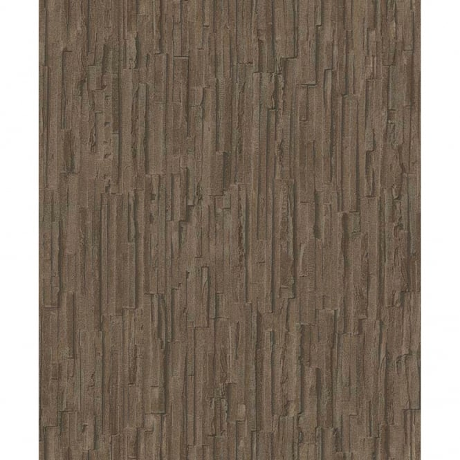 Erismann Slate Pattern Wallpaper Realistic Stone Faux Effect Embossed Stripe 6940-11