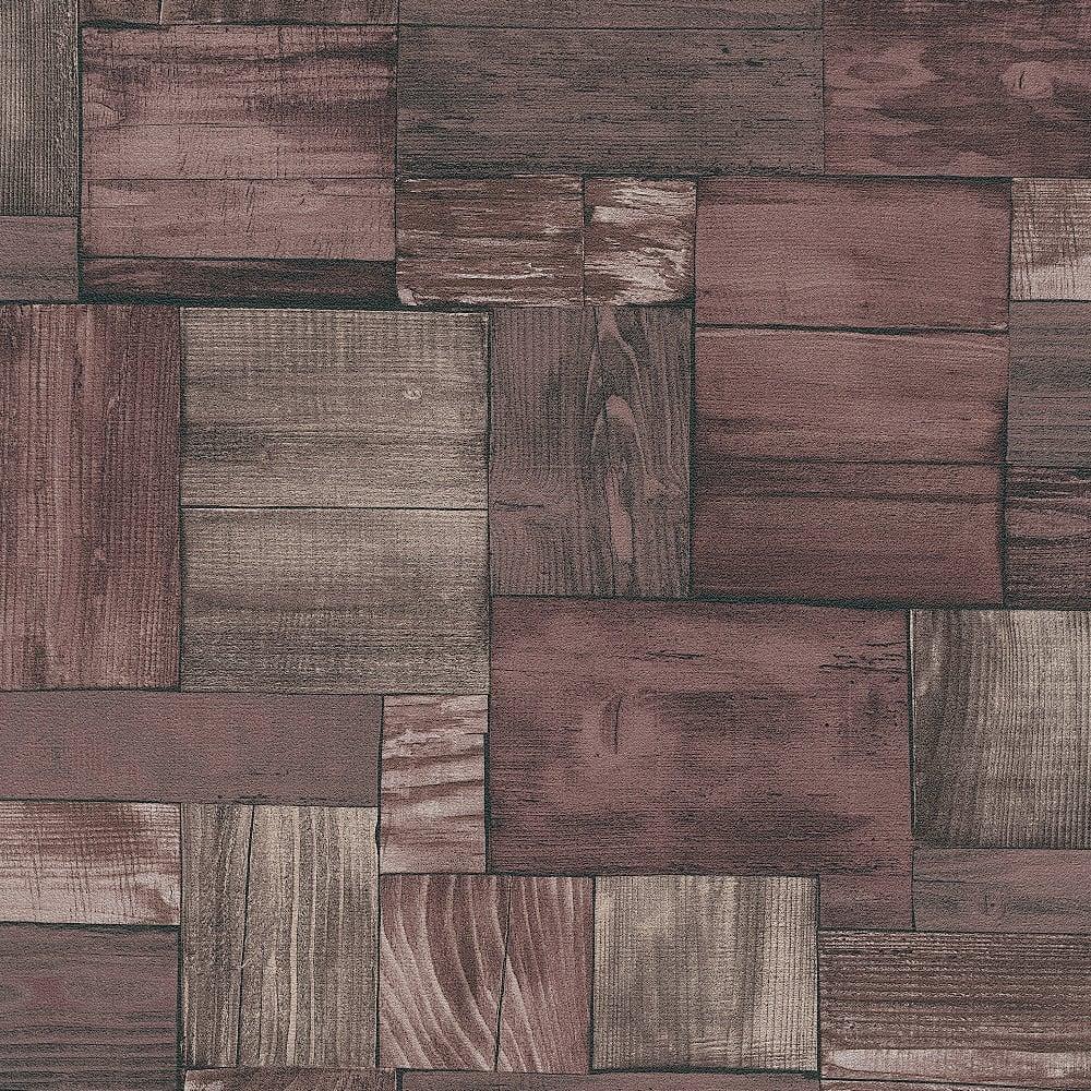 Erismann Wooden Block Pattern Wallpaper Faux Wood Effect ...