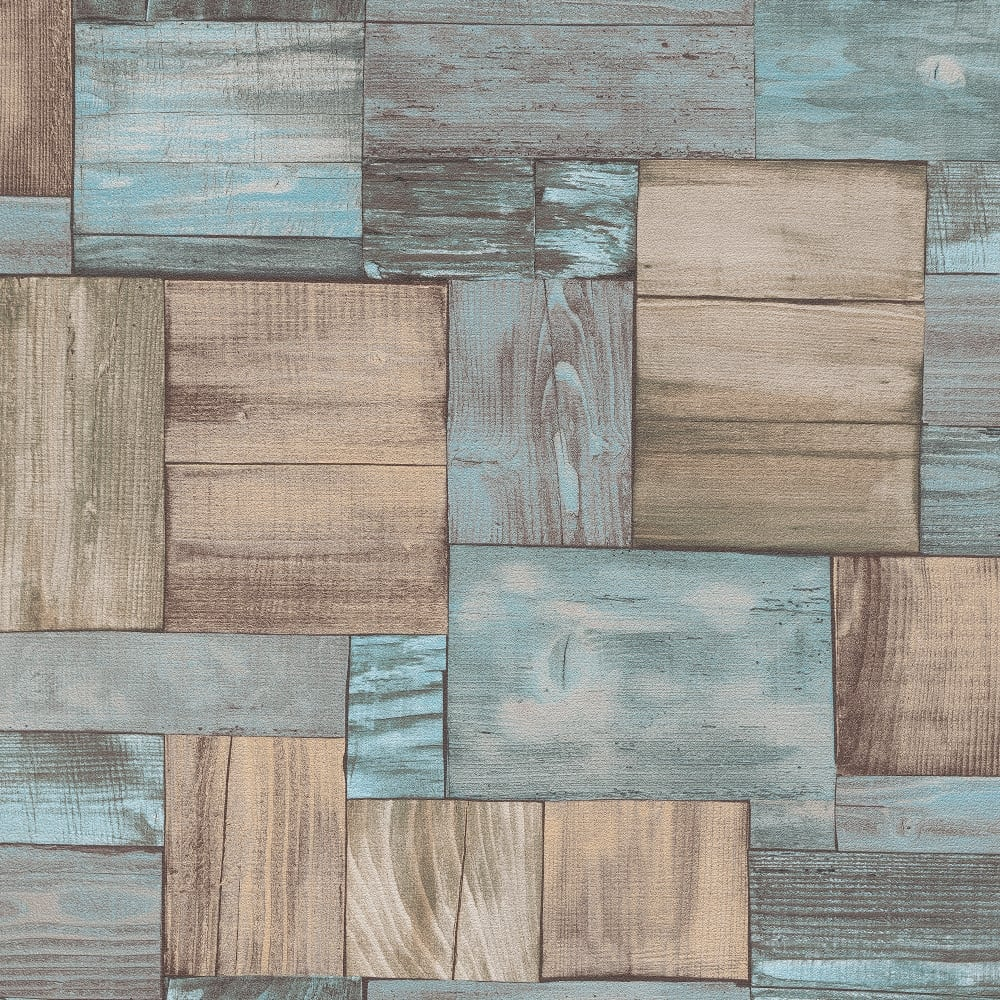 Erismann Wooden Block Pattern Wallpaper Faux Wood Effect Realistic Textured 7354 18