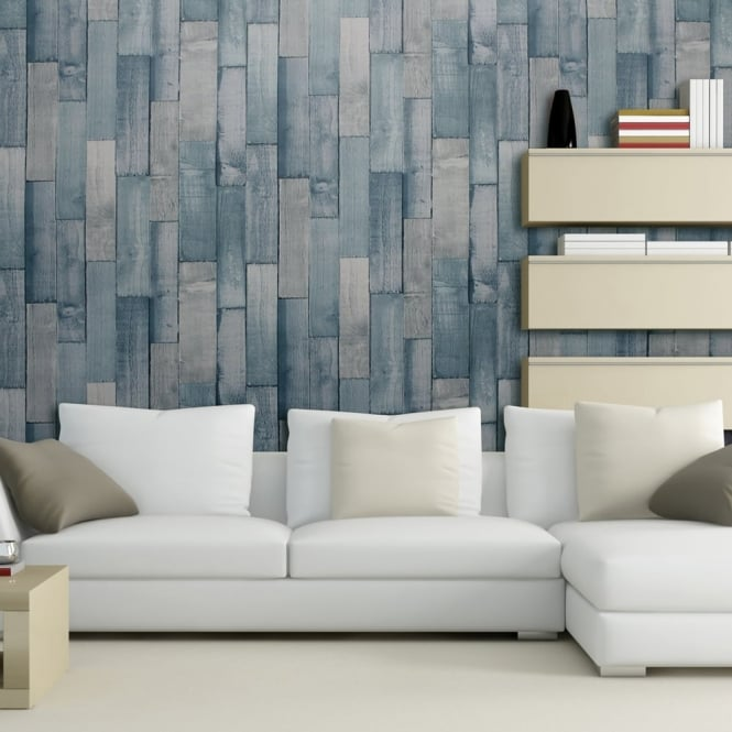 Arthouse Exclusive Driftwood Panel Pattern Wood Faux Effect Wallpaper 666600