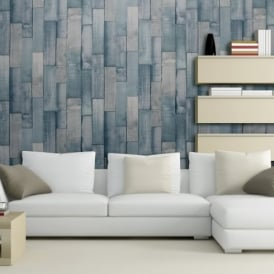 Exclusive Arthouse Driftwood Panel Pattern Wood Faux Effect Wallpaper 666600