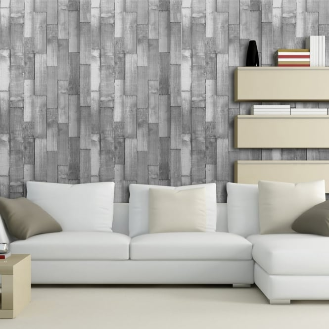 Arthouse Exclusive Driftwood Panel Pattern Wood Faux Effect Wallpaper 666601