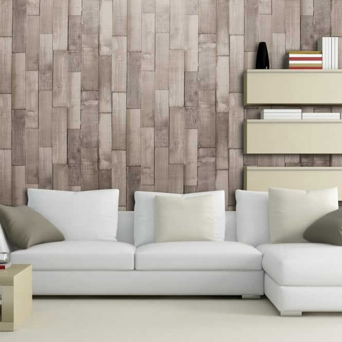 Arthouse Exclusive Driftwood Panel Pattern Wood Faux Effect Wallpaper 666603
