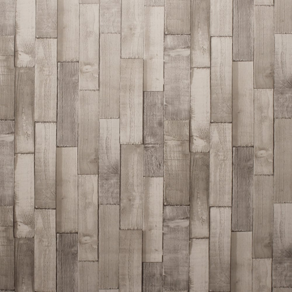 Exclusive Arthouse Driftwood Panel Pattern Wood Faux Effect Wallpaper 666603