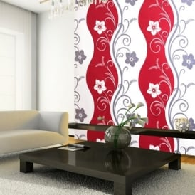 Exclusive Arthouse Rhythm Floral Pattern Flower Motif Metallic Wallpaper 614407