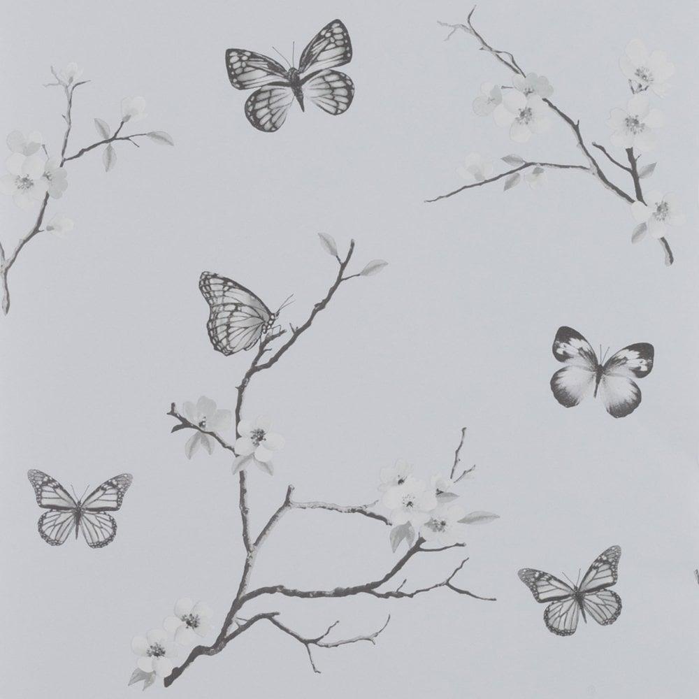 Arthouse Exclusive Marian Glitter Butterfly Modern Decorative Wallpaper