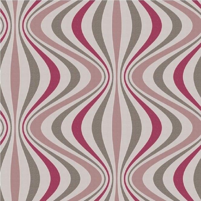 geo ogee gravure retro textured non woven wallpaper pink. Black Bedroom Furniture Sets. Home Design Ideas