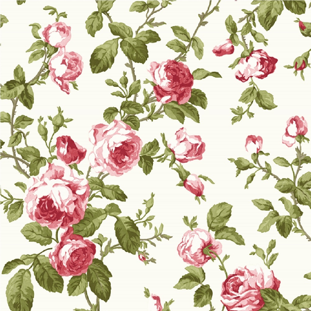 Fine decor heritage large floral rose flower wallpaper fd40171 - Papier peint shabby chic ...