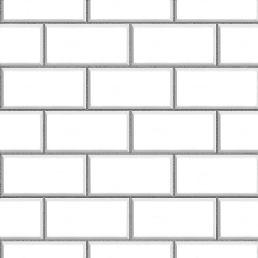 Fine Decor Ceramica Subway Brick Tile Embossed Vinyl