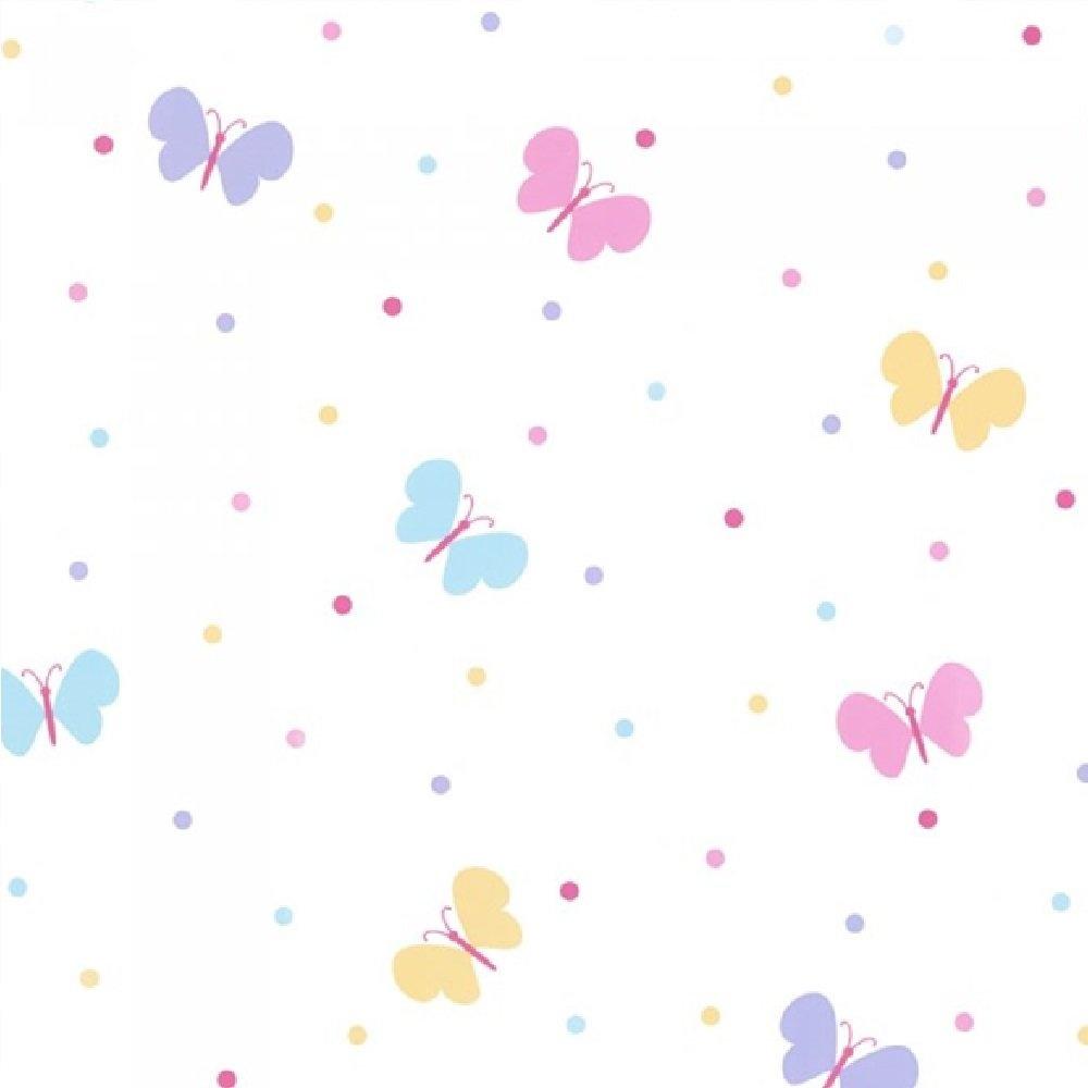 Butterfly Garden Polka Dot Childrens Butterflies Wallpaper