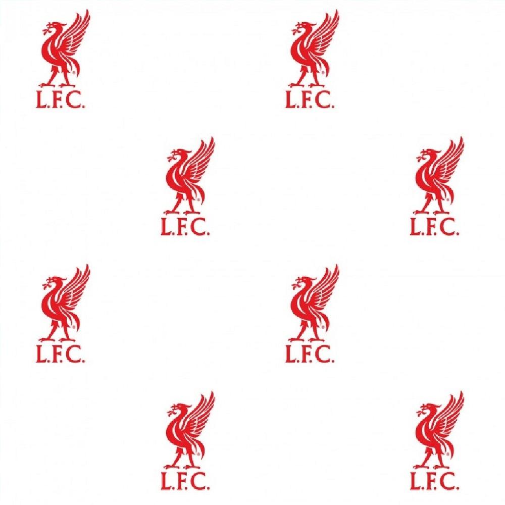 Fine Decor Liverpool FC White Wallpaper WP40025. Liverpool LFC Childrens Kids Football Wallpaper WP40025
